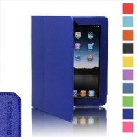 SAVEICON Blue PU Leather Folio Case with Built-in Stand for iPad Review